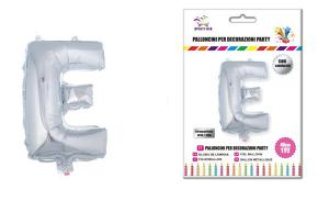 Balon črka E-40 cm-Srebrna